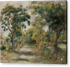 Landscape At Noon Acrylic Print by  Pierre Auguste Renoir