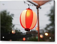 Lantern At Ginza Festival Acrylic Print by Seeing Is Believing.