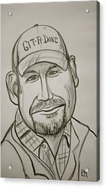 Larry The Cable Guy Acrylic Print by Pete Maier