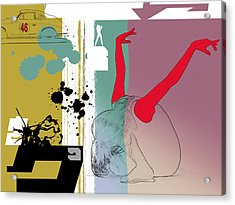 Last Dance Acrylic Print by Naxart Studio
