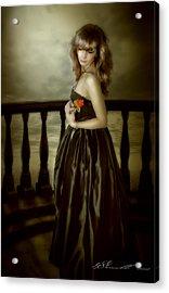 Last Red Rose Acrylic Print by Svetlana Sewell