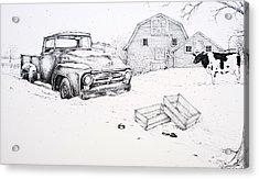 Late Season Apples Acrylic Print by Scott Nelson