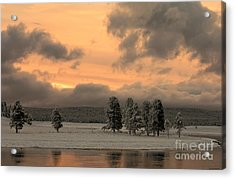 Late Spring Storm In Yellowstone Acrylic Print by Sandra Bronstein