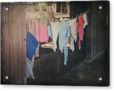 Laundry Day Acrylic Print by Laurie Search