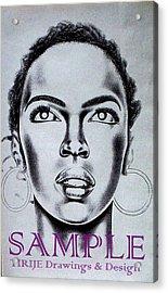 Lauren Hill Acrylic Print by Rick Hill