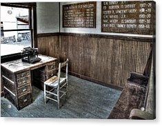 Law Man's Office - Molson Ghost Town Acrylic Print by Daniel Hagerman