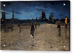 Le Pont De Pierre Acrylic Print by Charles Angrand
