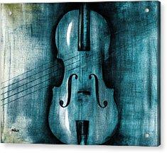 Le Violon Bleu Acrylic Print by Hakon Soreide