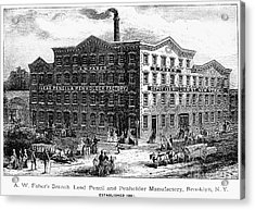 Lead Pencil Factory Acrylic Print by Granger