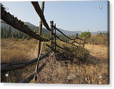 Leaning Fence  Acrylic Print by Jeannine Welfelt