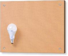 Led Bulb Acrylic Print by sozaijiten/Datacraft