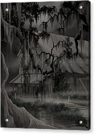 Legend Of The Old House In The Swamp Acrylic Print by James Christopher Hill