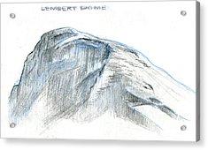 Lembert Dome At Noon Acrylic Print by Logan Parsons