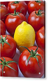 Lemon And Tomatoes Acrylic Print by Garry Gay