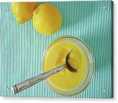 Lemon Curd Acrylic Print by Kate Brittle