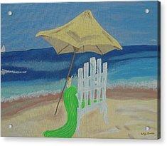 Lemonade On The Beach Acrylic Print by Bobbi Groves