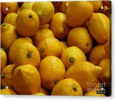 Lemons Acrylic Print by Methune Hively