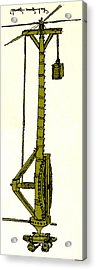 Leonardo Da Vincis Lifting Gear Acrylic Print by Science Source