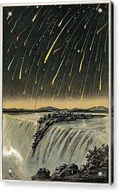 Leonid Meteor Shower Of 1833, Artwork Acrylic Print by Detlev Van Ravenswaay