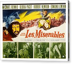 Les Miserables, Michael Rennie, Debra Acrylic Print by Everett