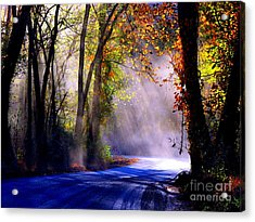 Let Your Light Shine Down On Me Acrylic Print by Carolyn Wright
