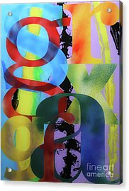 Letterforms 1 Acrylic Print by Mordecai Colodner