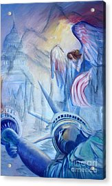 Liberty For  All Acrylic Print by Judy Groves