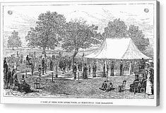 Life-sized Chess, 1882 Acrylic Print by Granger