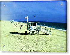 Lifeguard Shack Acrylic Print by Scott Pellegrin