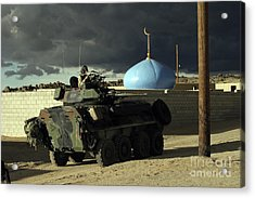 Light Armored Vehicle Commander Mans Acrylic Print by Stocktrek Images
