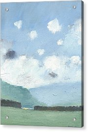 Light Blue Morning Acrylic Print by Alan Daysh