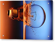 Light Bulb Shot Into Water Acrylic Print by Setsiri Silapasuwanchai