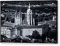 Light On The Cathedral Acrylic Print by Joan Carroll