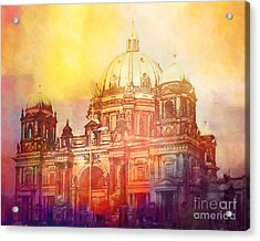Light Over Berlin Acrylic Print by Lutz Baar