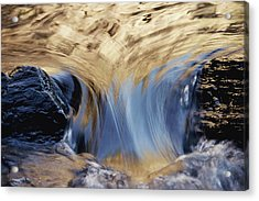 Light Reflected On Water Flowing Acrylic Print by Jason Edwards