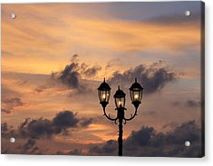 Lighted Sky Acrylic Print by Michael Green