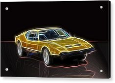 Lightning Fast Acrylic Print by Barry Jones