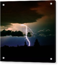 Lightning Over The Plains I Acrylic Print by Ellen Heaverlo