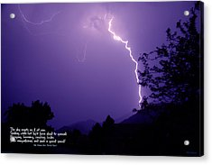 Lightning Over The Rogue Valley Acrylic Print by Mick Anderson