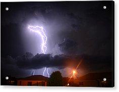 Lightning Strikes Acrylic Print by Ronald T Williams
