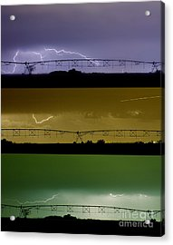 Lightning Warhol  Abstract Acrylic Print by James BO  Insogna