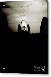 Like A Shotgun To The Belly Of A Sparrow  Acrylic Print by Steven  Digman