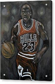 Like Mike Acrylic Print by Brad Coleman
