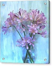 Lilies Pink Acrylic Print by Marsha Heiken