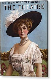 Lillian Russell On Cover Acrylic Print by Steve K