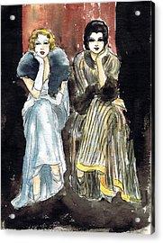 Lilyan And Kay 2 Acrylic Print by Mel Thompson
