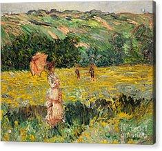 Limetz Meadow Acrylic Print by Claude Monet