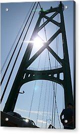 Lions Gate Bridge Vancouver Bc Acrylic Print by JM Photography