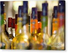 Liquor Bottles Acrylic Print by Shannon Fagan