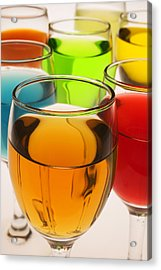 Liquor Glasses Acrylic Print by Garry Gay
